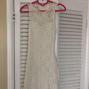 Express white lace mini dress